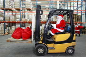 picture of forklift  - Rush hours before Christmas - JPG