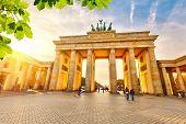 picture of gate  - Brandenburg gate at summer - JPG