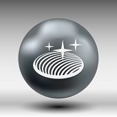 image of orbs  - vector button glass orb disco icon round - JPG