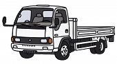 stock photo of lorries  - Hand drawing of a small lorry truck  - JPG