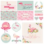 picture of bridal shower  - Flamingo Party Set  - JPG