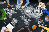 image of productivity  - Productivity Mission Strategy Business World Vision Concept - JPG