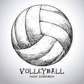 image of volleyball  - volleyball design over gray background vector illustration - JPG