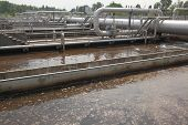 stock photo of wastewater  - Wastewater plant - JPG