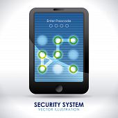 pic of patron  - security system over gray background vector illustration - JPG