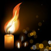 stock photo of mystique  - Easter holy fire on a dark background - JPG