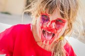image of scary face  - young kid  - JPG