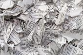 picture of time-piece  - Crumpled pieces of paper as a background image - JPG
