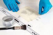 foto of criminology  - Disclosure of forensic evidence using fingerprint powders - JPG