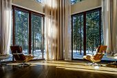 foto of windows doors  - Modern rest room in new house - JPG