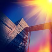 foto of iron ore  - industrial supporting facilities iron ore mining daylight - JPG