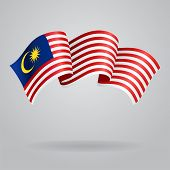 pic of waving  - Malaysian waving Flag - JPG