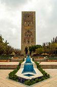 stock photo of mausoleum  - Tower Gardens and Mausoleum of Hassan II in Rabat Morocco - JPG