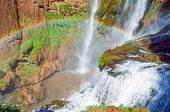 picture of rainbow piano  - Ouzoud waterfalls located in the Grand Atlas village of Tanaghme with rainbow - JPG