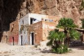 foto of cave  - Mangiapane cave Sicily  - JPG