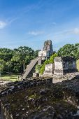 image of mayan  - View of Mayan historic building at Tikal Jungle - JPG