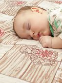 pic of sleeping  - The baby is sleeping. A sleeping child.