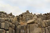 pic of conquistadors  - Ancient Inca fortress Saksaywaman is a military fortification used against the Spanish conquistadores near Cusco in Sacred Valley - JPG