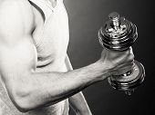 picture of lifting weight  - Bodybuilding - JPG