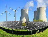 pic of wind-power  - Solar energy panels - JPG
