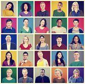 picture of human face  - People Diversity Faces Human Face Portrait Community Concept - JPG