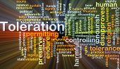 picture of disapproval  - Background concept wordcloud illustration of toleration glowing light - JPG
