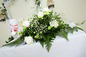 pic of special occasion  - Bouquet of white roses for special occasion - JPG