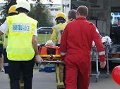 stock photo of accident victim  - The paramedics  - JPG