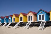 pic of beach-house  - colored houses on the beach in a row - JPG