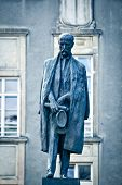 stock photo of tomas  - Tomas Garrigue Masaryk statue - JPG