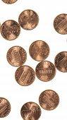 Постер, плакат: Dollar Coins 1 Cent Wheat Penny Cent Vertical