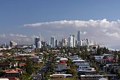 Surfers Paradise skyline from Magic Mountain