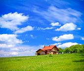 stock photo of dream home  - Dream house - JPG