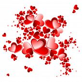 stock photo of valentine heart  - valentine heart petals blooming - JPG