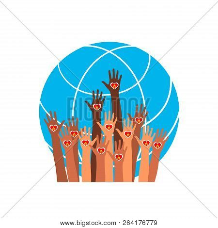 Fire Icon Hands With Earth