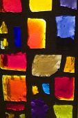 image of stained glass  - Rich colored stain glass panels background 07 - JPG