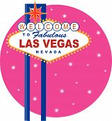 stock photo of las vegas casino  - Vector illustration of the famous Las Vegas sign - JPG