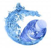 pic of bottle water  - plastic bottles in water swirl - JPG