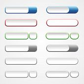 Set Colorful Button For Website Build Element Concept Design. Web Button Icons For Internet. Vector  poster