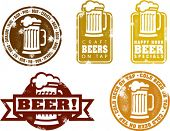 Distressed Style Beer Stamps