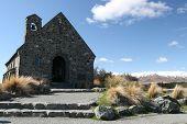 image of mckenzie  - Lake Tekapo Old Church  - JPG