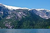 picture of punchbowl  - The cliffs and forests of Misty Fjords National Monument Wilderness near Ketchikan Alaska - JPG