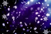 New Year. Christmas.  Purple Abstract Background, Vignette, Snowflakes. Copy Space.purple Abstract C poster