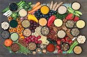 Liver detox super food with fruit, vegetables, herbs, spices,legumes, nuts, seeds, grains, cereals a poster