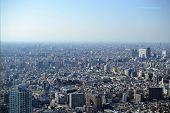 Tokyo, Mega City From Birdeye Perspective, From Above Japan poster