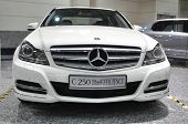 KUALA LUMPUR - NOV 12: A Mercedes-Benz Model C250 Blue Efficiency on display at the Car Of The Year