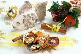 picture of x-max  - Christmas still life with fish - JPG