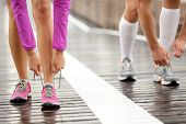 image of pink shoes  - Runner feet - JPG