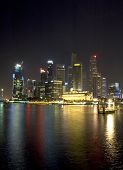picture of singapore night  - night view of singapore  - JPG