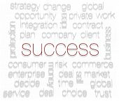 SUCCESS. Word collage on white background
